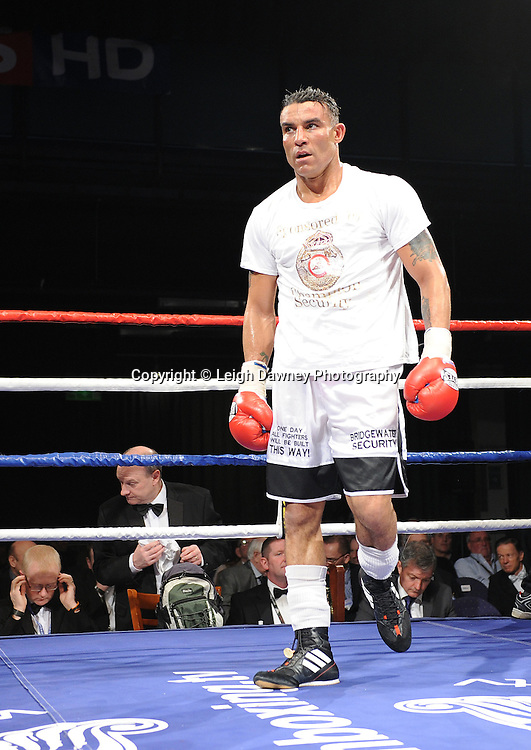 Robin Reid (pictured) defeats Jamie Ambler at the Reebok Stadium on Saturday 26th February 2011. Hatton Promotions. Photo credit © Leigh Dawney.
