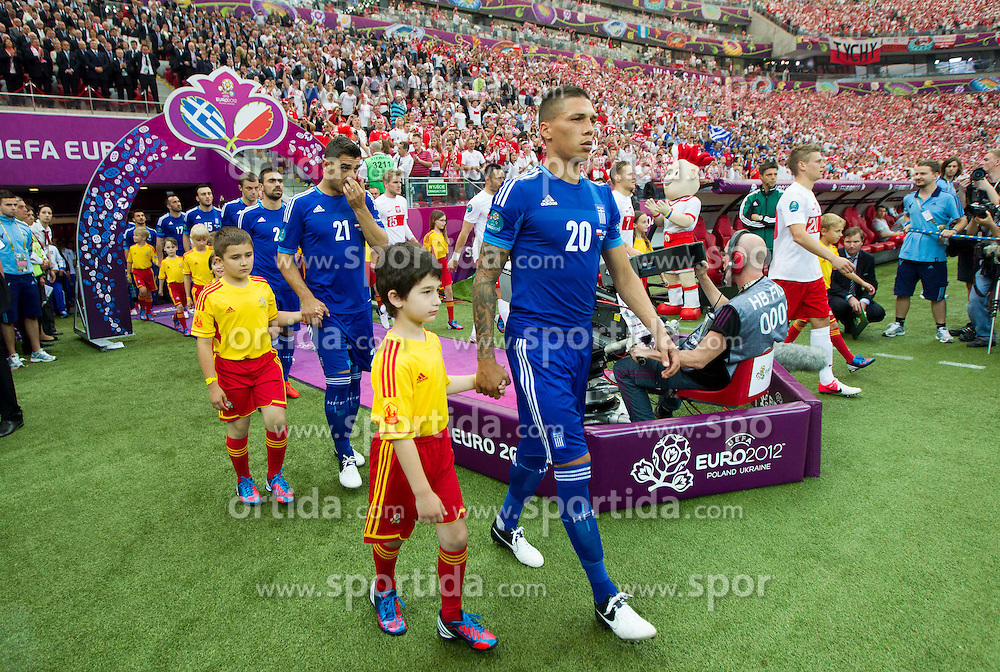 Jose Holebas  of Greece prior to the UEFA EURO 2012 group A match between Poland and Greece at The National Stadium on June 8, 2012 in Warsaw, Poland.  (Photo by Vid Ponikvar / Sportida.com)