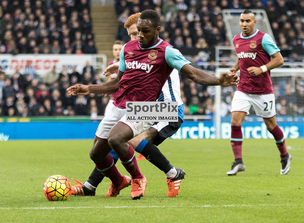 West Ham United's Michail Antonio has the ball on the edge of the box......(c) MARK INGRAM | SportPix.org.uk