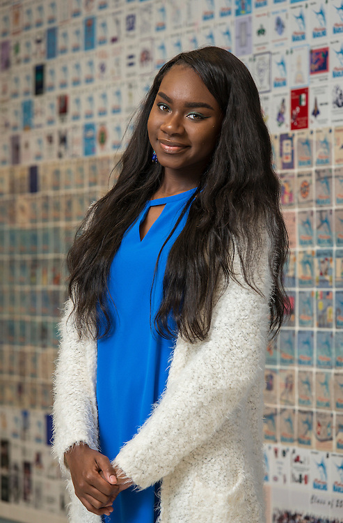Marsae Johnson poses for a photograph at Madison High School, February 17, 2016.