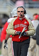 November 20 2010: Ohio State head coach Jim Tressel during the first quarter of the NCAA football game between the Ohio State Buckeyes and the Iowa Hawkeyes at Kinnick Stadium in Iowa City, Iowa on Saturday November 20, 2010. Ohio State defeated Iowa 20-17.