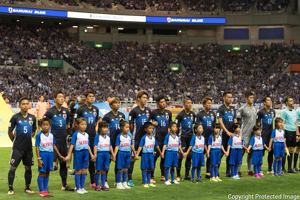Football Soccer - Japan v Australia - World Cup 2018 Qualifier - Saitama Stadium 2002, Saitama, Japan - 31/08/17. The Japanese team. 31/08/2017-Saitama, JAPAN