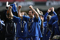 Photo: Rich Eaton.<br /> <br /> Chelsea v Arsenal. Carling Cup Final. 25/02/2007. Frank Lampard and teammates celebrate Chelseas 2-1 victory