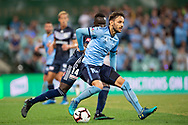 SYDNEY, AUSTRALIA - APRIL 06: Sydney FC midfielder Milos Ninkovic (10) gets past Melbourne Victory defender Thomas Deng (14) at round 24 of the Hyundai A-League Soccer between Sydney FC and Melbourne Victory on April 06, 2019, at The Sydney Cricket Ground in Sydney, Australia. (Photo by Speed Media/Icon Sportswire)
