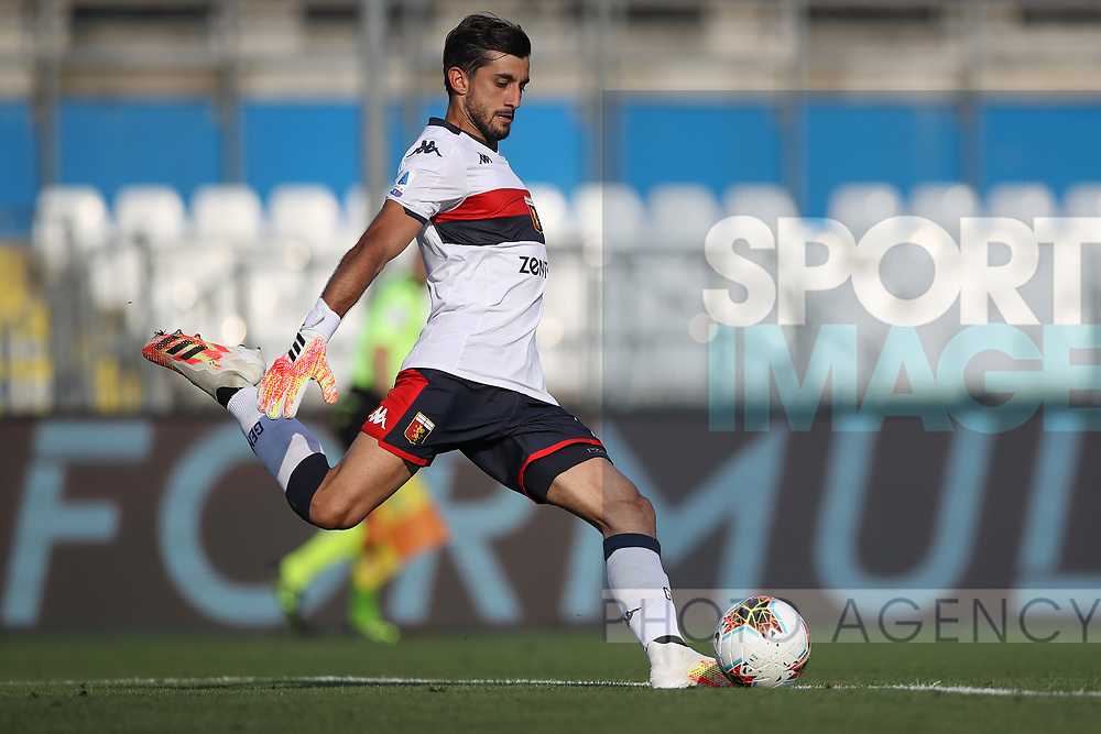 Genoa's Italian goalkeeper Mattia Perin during the Serie A match at Stadio Mario Rigamonti, Brescia. Picture date: 27th June 2020. Picture credit should read: Jonathan Moscrop/Sportimage