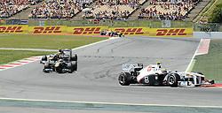 22.05.2011, Circuit de Catalunya, Barcelona, ESP, Großer Preis von Spanien / Barcelona, RACE 05, im Bild  DHL Branding - Sergio Perez (MEX) Sauber F1 Team    EXPA Pictures © 2011, PhotoCredit: EXPA/ nph/  Dieter Mathis (bitte als Fotovermerk angeben)        ****** only for AUT, POL & SLO ******