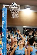 Tactix player Ellie Bird scores during the Southern Steel v Mainland Tactix, ANZ Netball Premiership, Edgar Centre, Dunedin, New Zealand. June 24, 2018. Copyright Image: Derek Morrison / www.photosport.nz