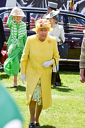 HM The Queen at The Investec Derby, Epsom, Surrey England. 3 June 2017.<br /> Photo by Dominic O'Neill/SilverHub 0203 174 1069 sales@silverhubmedia.com