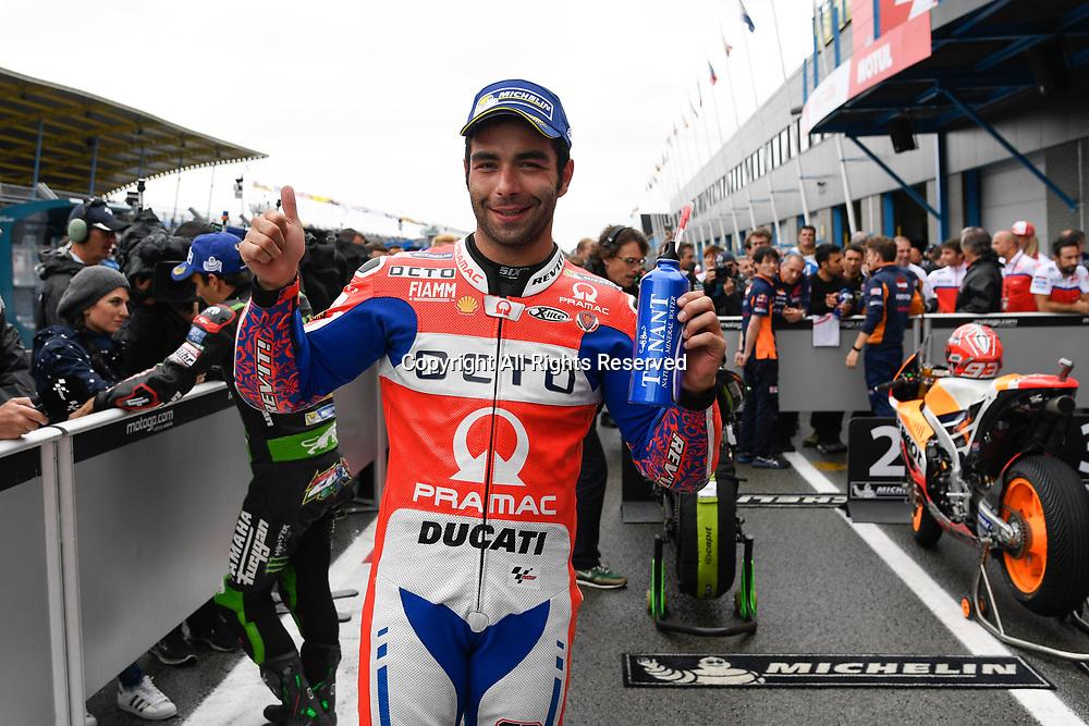 June 24th 2017, TT Circuit, Assen, Netherlands; MotoGP Grand Prix TT Assen, Qualifying Day; Danilo Petrucci (Pramac) at parc ferme 3rd on grid