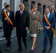 "King Philippe and Queen Mathilde inaugurates ""Mons 2015"" and the Van Gogh exhibition"