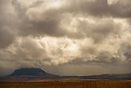 Square Butte, Fall storm, Square Butte Natural Area, Square Butte Montana