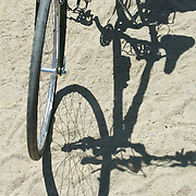 A bicycle and a shadow The 2007 Trek Across Maine, an annual project of the American Lung Association of Maine (ALAM).
