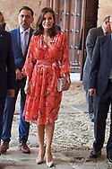 Queen Letizia of Spain attends Closing of the 2nd Seminar on Patrimonial Education in the School at International Center for the Research of the Spanish Language on July 5, 2019 in San Millan de la Cogolla, Spain
