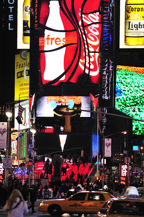 Times Square, New York, night, 2009.