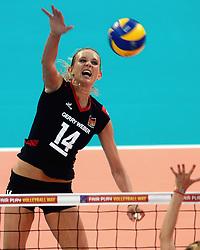 06-09-2013 VOLLEYBAL: EK VROUWEN DUITSLAND - SPANJE: HALLE<br /> Duitsland wint met 3-0 van Spanje / Margareta Anna Kozuch<br /> &copy;2013-FotoHoogendoorn.nl