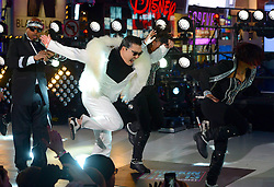 South Korean singer PSY performs during New Years Eve celebrations in Times Square in New York, the United States,  December 31, 2012. Photo by Imago / i-Images...UK ONLY