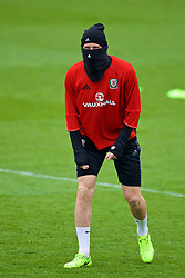 CARDIFF, WALES - Thursday, March 23, 2017: Wales' James Collins, wearing a snood, during a training session at the Vale Resort ahead of the 2018 FIFA World Cup Qualifying Group D match against Republic of Ireland. (Pic by David Rawcliffe/Propaganda)