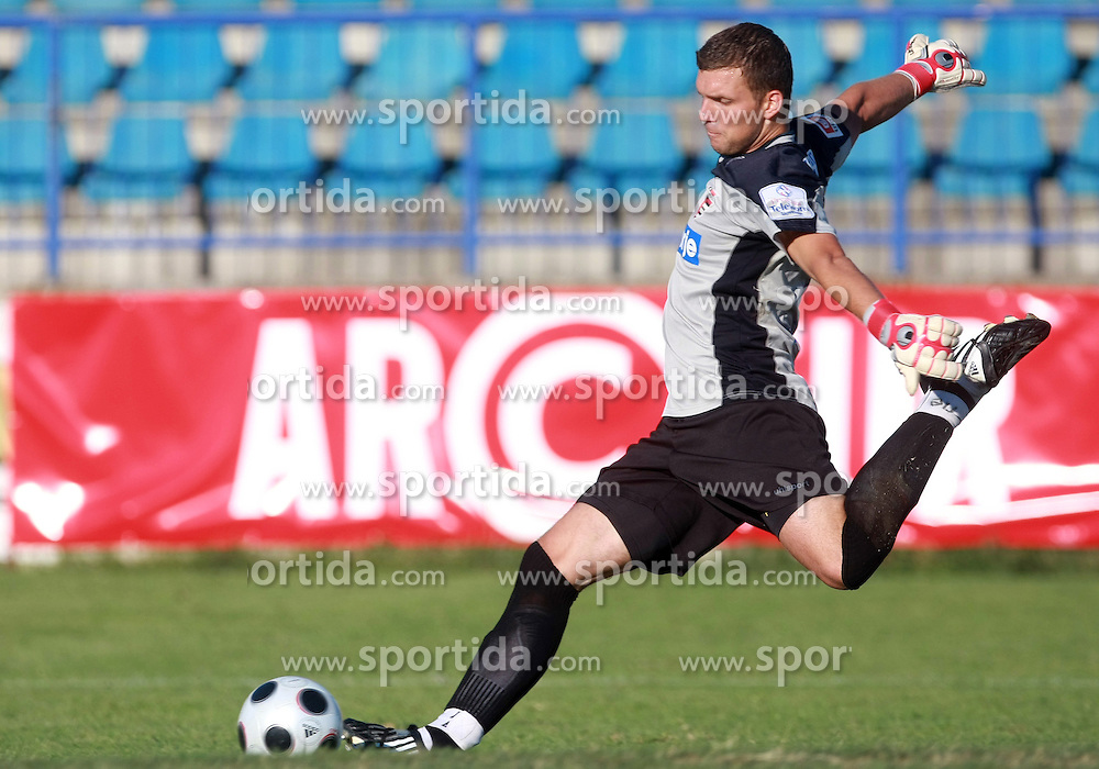 Goalkeeper of Primorje Igor Nenezic at 6th Round of PrvaLiga Telekom Slovenije between NK Primorje Ajdovscina vs NK Rudar Velenje, on August 24, 2008, in Town stadium in Ajdovscina. Primorje won the match 3:1. (Photo by Vid Ponikvar / Sportal Images)