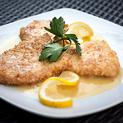 August 18, 2012 - New Rochelle, NY : Posto 22, located at 22 Division Street in New Rochelle, NY, serves gourmet Italian cuisine from it's classic dining room. Pictured here, the chicken martini -- parmesan-crusted chicken breast in a lemon white wine sauce. CREDIT: Karsten Moran for The New York Times
