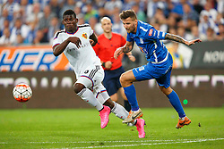 29.07.2015, INEA Stadion, Poznan, POL, UEFA CL, Lech Poznan vs FC Basel, Qualifikation, 3. Runde, Hinspiel, im Bild BREEL EMBOLO, TAMAS KADAR // during the UEFA Champions League Qualifier, third round, first Leg match between Lech Posen and FC Basel at the INEA Stadion in Poznan, Poland on 2015/07/29. EXPA Pictures © 2015, PhotoCredit: EXPA/ Newspix/ Radoslaw Jozwiak<br /> <br /> *****ATTENTION - for AUT, SLO, CRO, SRB, BIH, MAZ, TUR, SUI, SWE only*****