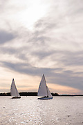 Papoose and Squaw, Herreshoff S Class, sailing sea trials.