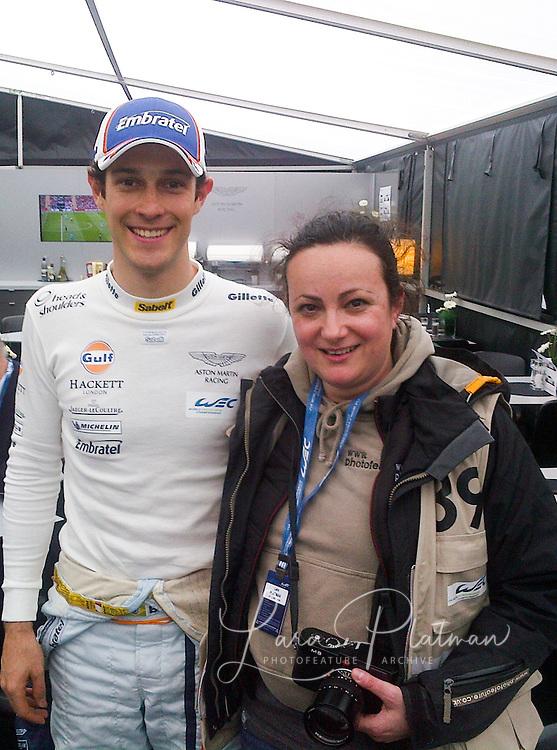 Bruno Senna and Lara Platman at FIA WEC Silverstone 2013 FIAWEC Silverstone 2013