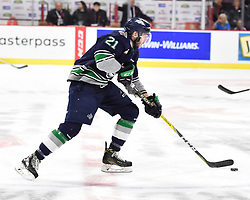 Matthew Wedman of the Seattle Thunderbirds in Game 3 of the 2017 MasterCard Memorial Cup against the Windsor Spitfires on Sunday May 21, 2017 at the WFCU Centre in Windsor, ON. Photo by Aaron Bell/CHL Images