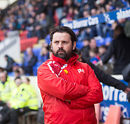 Dundee manager Paul Hartley - St Johnstone v Dundee in the Ladbrokes Scottish Premiership at McDiarmid Park, Perth: Picture &copy; David Young<br /> <br />  - &copy; David Young - www.davidyoungphoto.co.uk - email: davidyoungphoto@gmail.com