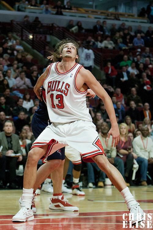 20 January 2009: Chicago Bulls center Joakim Noah is seen during the Atlanta Hawks victory 105-102 over the Chicago Bulls at the United Center, in Chicago, Illinois, USA.