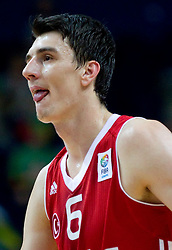 Emir Preldzic of Turkey during basketball game between National basketball teams of Germany and Turkey at FIBA Europe Eurobasket Lithuania 2011, on September 9, 2011, in Siemens Arena,  Vilnius, Lithuania.  (Photo by Vid Ponikvar / Sportida)