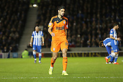 Ipswich Town midfielder Kevin Bru (17) during the Sky Bet Championship match between Brighton and Hove Albion and Ipswich Town at the American Express Community Stadium, Brighton and Hove, England on 29 December 2015. Photo by Phil Duncan.