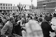 1960..Marseille,<br /> A friendly crowd of French communists<br /> breaks through security causing major<br /> panic with Khrushchev's security men<br /> as they were not prepared for a joyous outpouring such as this. They rushed Khruschev in the first car they could find and was send off. <br /> NOTE: The Russian journalists and photographers who were with us, turned around and acted as  temporary bodyguards,a very unusual <br /> happening.<br /> <br /> 1960. Marseille, France<br /> Une foule amicale des communistes fran&ccedil;ais perce la s&eacute;curit&eacute; causant une<br /> panique chez les hommes de la s&eacute;curit&eacute; de Khrouchtchev, mal pr&eacute;par&eacute;s pour une effusion de joie comme celle-ci . Ils ont pr&eacute;cipit&eacute;s Khruschev dans la premi&egrave;re voiture qu'ils ont pu trouver sont partis. <br /> NOTE : Les journalistes russes et les photographes qui &eacute;taient avec nous , se sont retournes et ont agis comme gardes du corps temporaires, une fonction tr&egrave;s inhabituel pour eux.