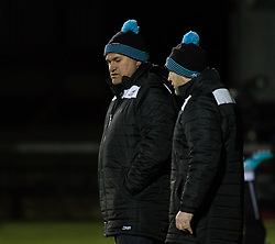 Glasgow Warriors' Head Coach Dave Rennie during the pre match warm up<br /> <br /> Photographer Simon King/Replay Images<br /> <br /> Guinness PRO14 Round 14 - Dragons v Glasgow Warriors - Friday 9th February 2018 - Rodney Parade - Newport<br /> <br /> World Copyright © Replay Images . All rights reserved. info@replayimages.co.uk - http://replayimages.co.uk