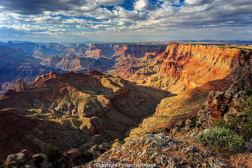 Storms approach the South Rim of the Grand Canyon National Park