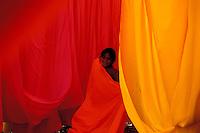 Inde. Rajasthan. Usine de sari. // India, Rajasthan, Sari factory