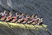 Chiswick. GREAT BRITAIN, Lady Eleanor Holles BC. 'A' , approaching the start, from, Chiswick Bridge, during the 2007 Women's Head of the River Race,  raced over the Championship Course, [reverse] on the River Thames, London, on SAT 17.03.2007,  [Photo Peter Spurrier/Intersport Images]  [Mandatory Credit, Peter Spurier/ Intersport Images]. , Rowing Course: River Thames, Championship course, Putney to Mortlake 4.25 Miles,