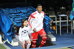 23.04.2014, Estadio Santiago Bernabeu, Madrid, ESP, UEFA CL, Real Madrid vs FC Bayern Muenchen, Halbfinale, Hinspiel, im Bild David Alaba #27 (FC Bayern Muenchen) kommt aus dem Tunnel // during the UEFA Champions League Round of 4, 1st Leg Match between Real Madrid vs FC Bayern Munich at the Estadio Santiago Bernabeu in Madrid, Spain on 2014/04/23. EXPA Pictures &copy; 2014, PhotoCredit: EXPA/ Eibner-Pressefoto/ Kolbert<br /> <br /> *****ATTENTION - OUT of GER*****