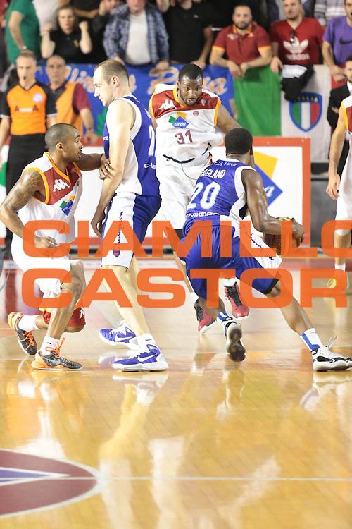 DESCRIZIONE : Roma Lega A 2012-2013 Acea Roma Lenovo Cantu playoff semifinale gara 2<br /> GIOCATORE : Maarten Leunen <br /> CATEGORIA : difesa<br /> SQUADRA : Lenovo Cantu<br /> EVENTO : Campionato Lega A 2012-2013 playoff semifinale gara 2<br /> GARA : Acea Roma Lenovo Cantu<br /> DATA : 27/05/2013<br /> SPORT : Pallacanestro <br /> AUTORE : Agenzia Ciamillo-Castoria/M.Simoni<br /> Galleria : Lega Basket A 2012-2013  <br /> Fotonotizia : Roma Lega A 2012-2013 Acea Roma Lenovo Cantu playoff semifinale gara 2<br /> Predefinita :