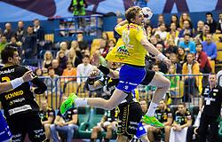 David Miklavcic of Celje PL during handball match between RK Celje Pivovarna Lasko (SLO) and Rhein-Neckar Loewen (GER) in Round 6 of EHF Champions League 2014/15, on November 23, 2014 in Arena Zlatorog, Celje, Slovenia. Photo by Vid Ponikvar / Sportida