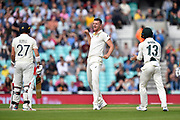 Josh Hazlewood of Australia thinks he has the wicket of Rory Burns of England lbw but on review the batsman is given not out during the 5th International Test Match 2019 match between England and Australia at the Oval, London, United Kingdom on 12 September 2019.