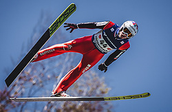 30.09.2018, Energie AG Skisprung Arena, Hinzenbach, AUT, FIS Ski Sprung, Sommer Grand Prix, Hinzenbach, im Bild Killian Peier (SUI) // Killian Peier of Switzerland during FIS Ski Jumping Summer Grand Prix at the Energie AG Skisprung Arena, Hinzenbach, Austria on 2018/09/30. EXPA Pictures © 2018, PhotoCredit: EXPA/ Stefanie Oberhauser
