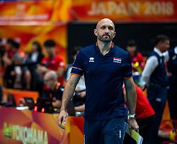 03-10-2018 NED: World Championship Volleyball Women day 5, Yokohama<br /> Argentina - Netherlands 0-3 / Coach Jamie Morrison
