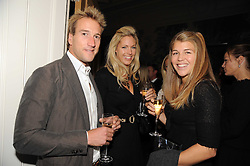 Left to right, BEN & MARINA FOGLE and AMBER AITKENS at the Andrew Martin 2008 International Interior Designer of the Year Award held at The Haymarket Hotel, 1 Suffolk Place, London SW1 on 22nd September 2008.