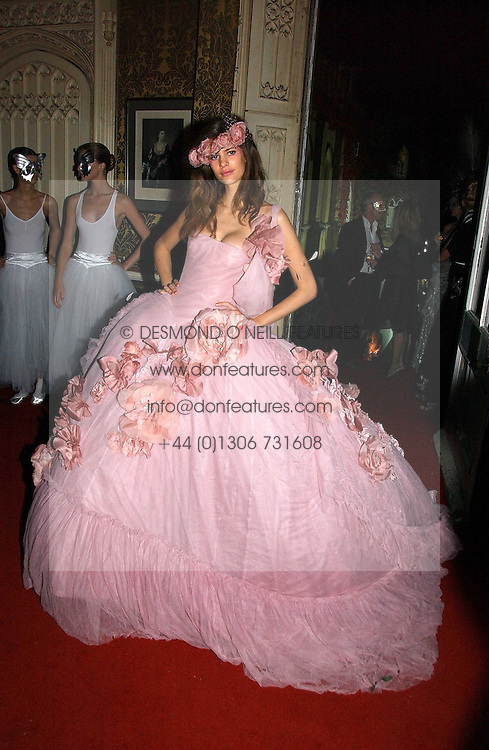 CHLOE PRIDHAM at the 2006 Moet &amp; Chandon Fashion Tribute in honour of photographer Nick Knight, held at Strawberry Hill House, Twickenham, Middlesex on 24th October 2006.<br />