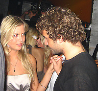 **EXCLUSIVE**.Paris Hiton talking to Brandon Davis' ex-girlfriend, Caroline Vreeland.Even after months of been broken up Paris Hilton can't get over Stavros Niachors, because as soon as she arrived at Mokai Night Club, she went ballistic on Stavros and demanded that Brandon Davis' ex-girlfriend, Caroline Vreeland, who is having an affair with him, be removed from his table, telling her bodyguard to kick her out from the table. As soon as Brooke left, Paris started to make out with Stavros and to dance at the exactly place where Brooke was sitting..At the end Paris and Stavros made up and confess to each other how they can't live separately and that all the other affairs they had was just to spite each other...Mokai Nightclub.Miami Beach, FL, USA.Thursday, December 06, 2007 .Photo By Celebrityvibe.com.To license this image please call (212) 410 5354; or.Email: celebrityvibe@gmail.com ;.website: www.celebrityvibe.com