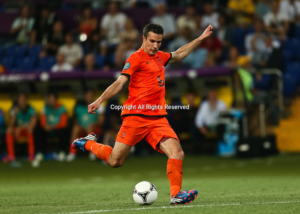 13.06.2012 Ukraine, Kharkiv : Ukraine, Kharkiv.  Netherlands national team player Robin van Persie in the group stage European Football Championship match between teams of the Netherlands and Germany.