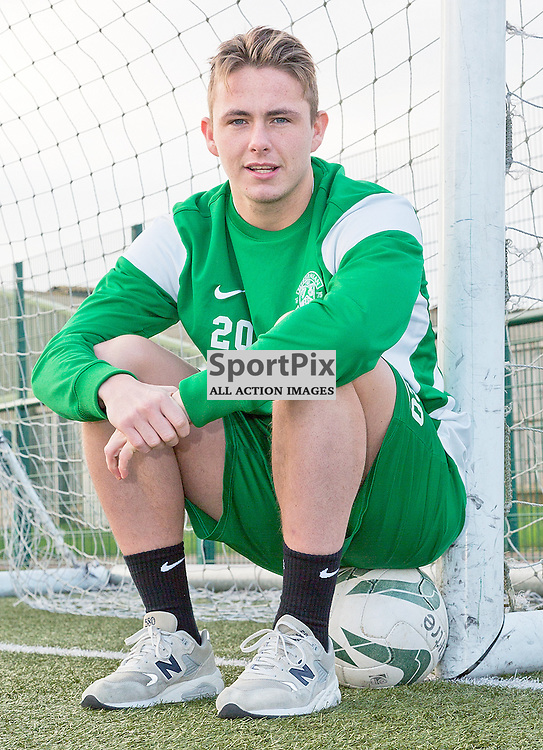 Hibernian Football Club Media Conference 30 December 2014; Hibernian's Scott Allan during the Hibernian Football Club Media conference at Hibernian Training Centre, Tranent to preview the club's Scottish Championship match against Hearts at Tynecastle on Saturday 3 January 2015;