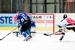 02.11.2012, Hostan Arena, Znojmo, CZE, EBEL, HC Orli Znojmo vs SAPA Fehervar, 18. Runde, im Bild Attila Orban (Fehérvár #57) Adam Munro (Fehérvár #51) Adam Havlik (Znojmo #88) // during the Erste Bank Icehockey League 18nd round match betweeen HC Orli Znojmo and SAPA Fehervar at the Hostan Arena, Znojmo, Czech Republic on 2012/11/02. EXPA Pictures © 2012, PhotoCredit: EXPA/ Rostislav Pfeffer