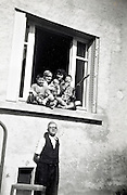 happy moment father with family France around early 1960s