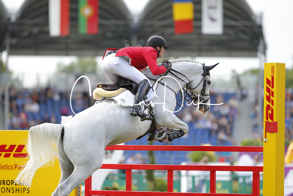 Deusser Daniel, (GER), Cornet D Amour<br /> Team Competition round 1 and Individual Competition round 1<br /> FEI European Championships - Aachen 2015<br /> © Hippo Foto - Stefan Lafrentz<br /> 19/08/15